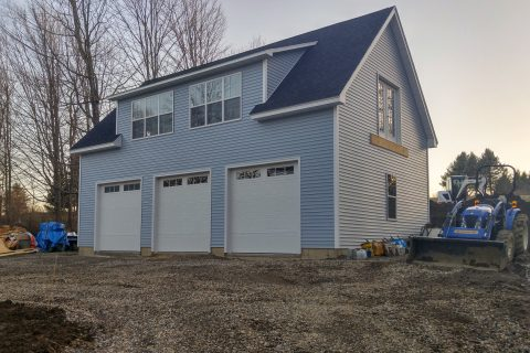 3 car garage with dormer