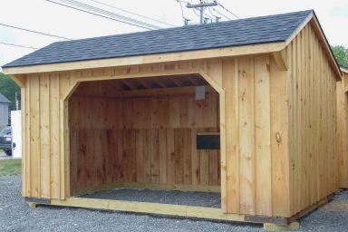 wooden horse barn