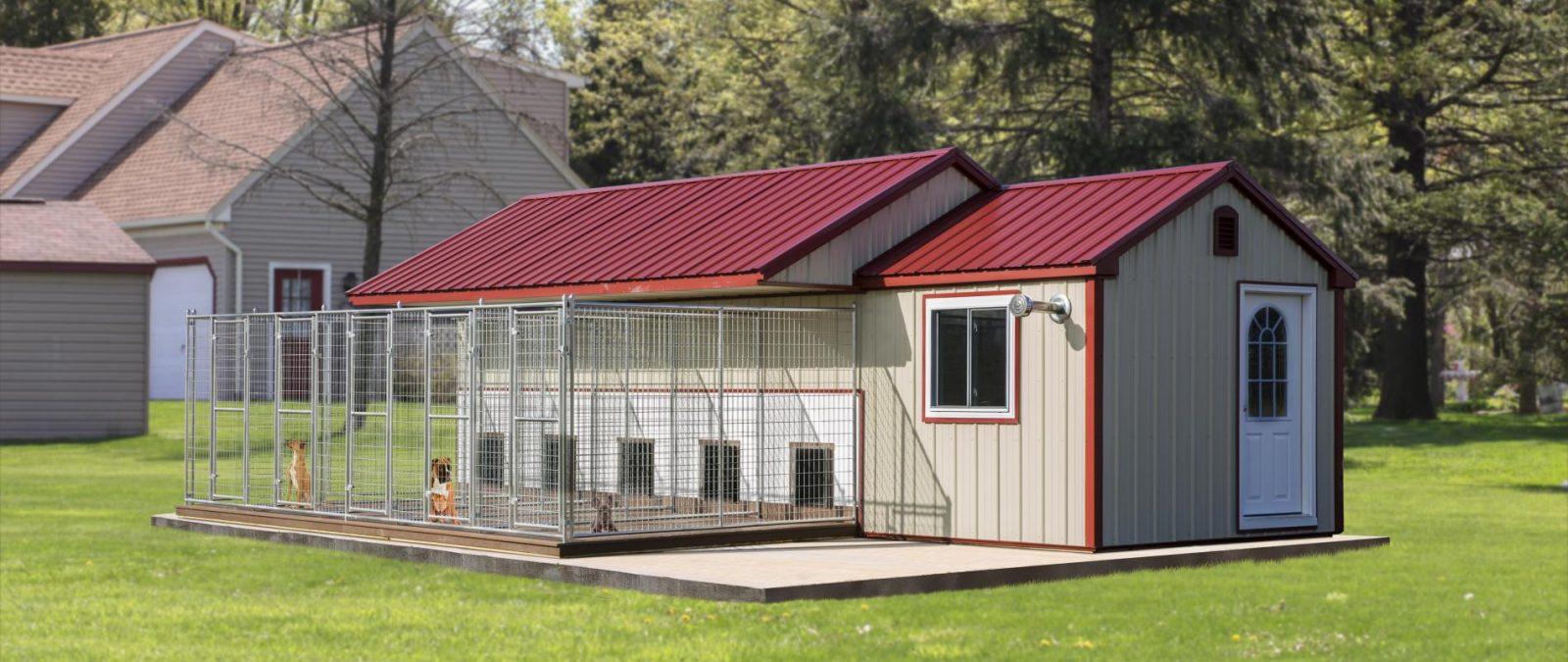 big outdoor dog kennels