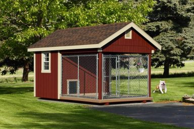 outdoor covered dog kennel
