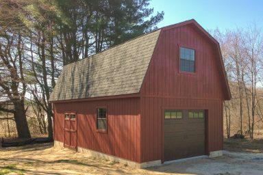 2 story garage shed