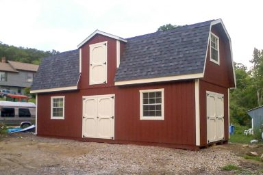 2 story outdoor shed