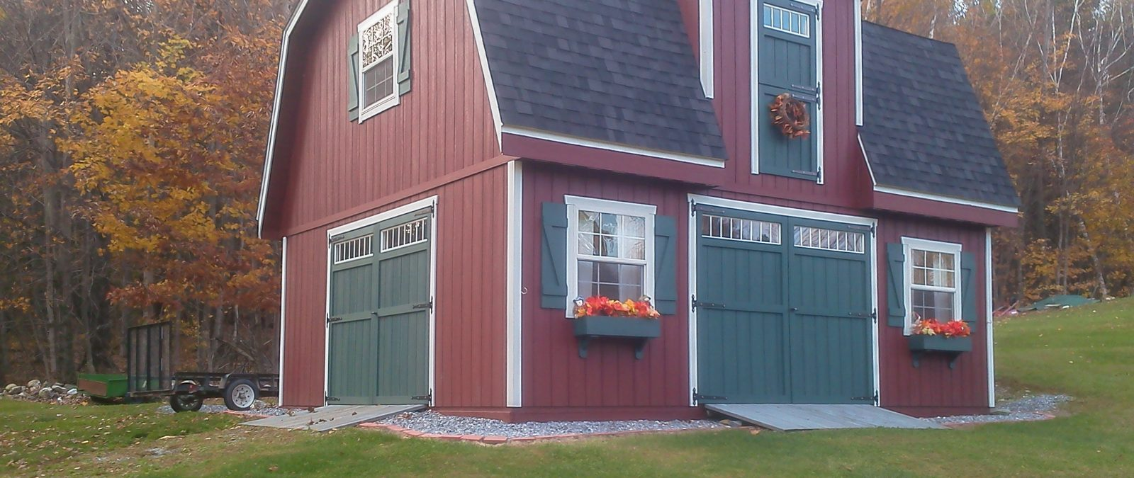 2 story shed house