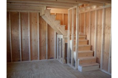 2 story shed stairs
