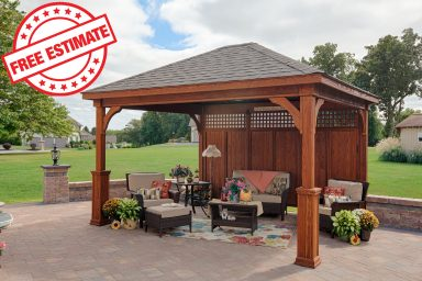 outdoor shade structure pavilion