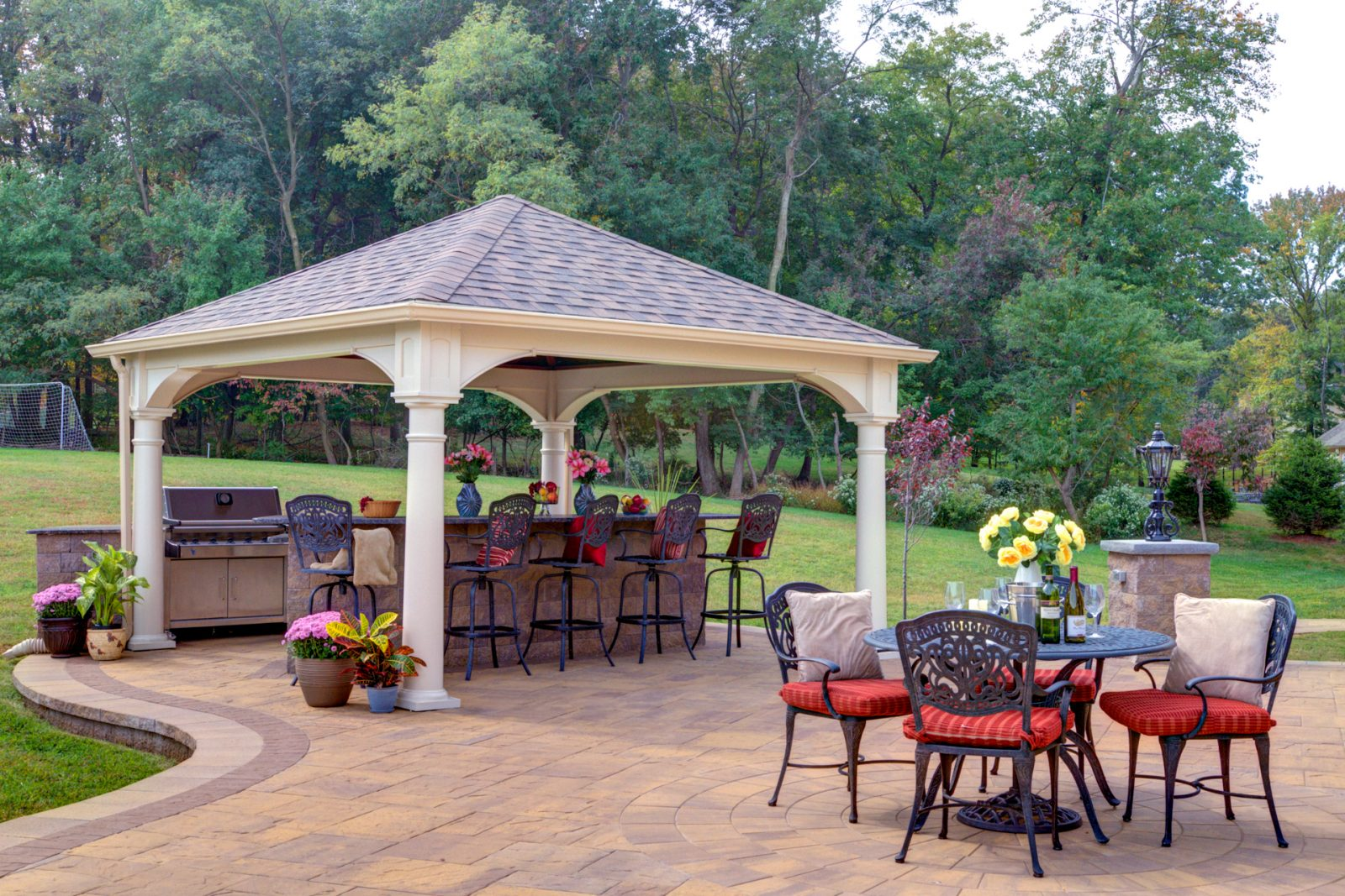 traditional outdoor pavilion
