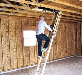 shed or garage dropdown staircase